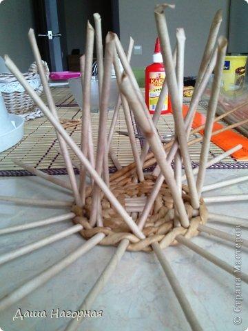 Мастер-класс Поделка изделие Плетение МК чашки Бумага газетная Трубочки бумажные фото 10