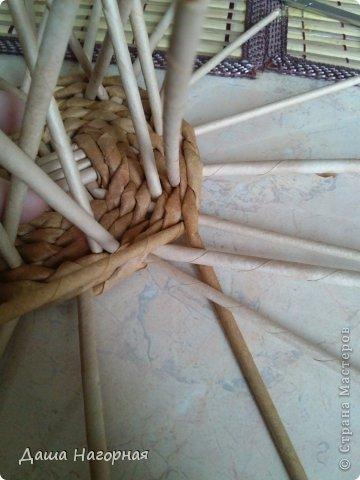 Мастер-класс Поделка изделие Плетение МК чашки Бумага газетная Трубочки бумажные фото 12