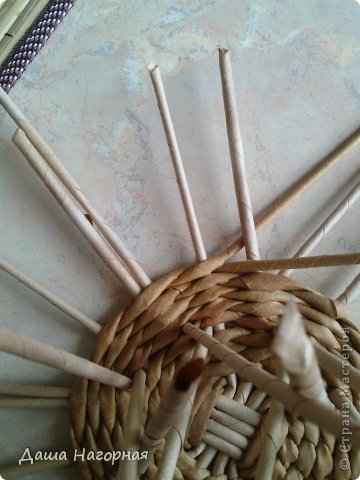 Мастер-класс Поделка изделие Плетение МК чашки Бумага газетная Трубочки бумажные фото 14
