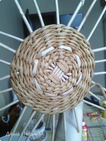 Мастер-класс Поделка изделие Плетение МК чашки Бумага газетная Трубочки бумажные фото 15