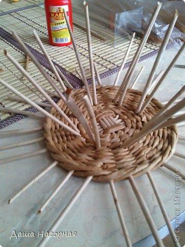 Мастер-класс Поделка изделие Плетение МК чашки Бумага газетная Трубочки бумажные фото 16
