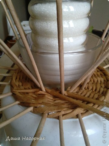 Мастер-класс Поделка изделие Плетение МК чашки Бумага газетная Трубочки бумажные фото 18