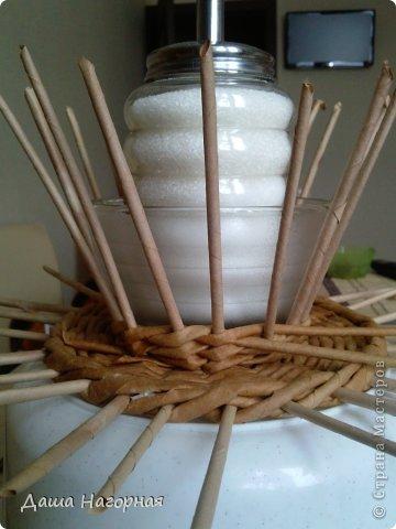 Мастер-класс Поделка изделие Плетение МК чашки Бумага газетная Трубочки бумажные фото 19