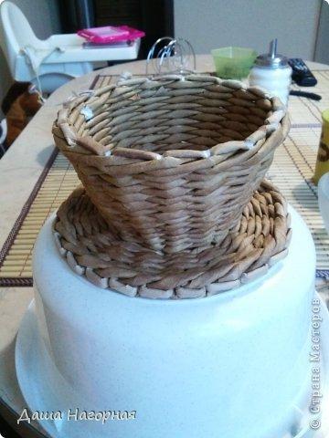 Мастер-класс Поделка изделие Плетение МК чашки Бумага газетная Трубочки бумажные фото 22