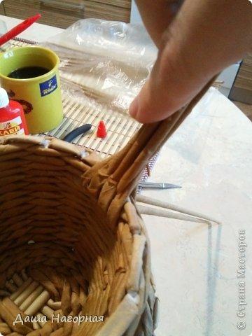 Мастер-класс Поделка изделие Плетение МК чашки Бумага газетная Трубочки бумажные фото 25