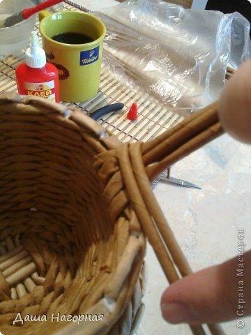 Мастер-класс Поделка изделие Плетение МК чашки Бумага газетная Трубочки бумажные фото 26