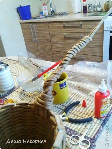 Мастер-класс Поделка изделие Плетение МК чашки Бумага газетная Трубочки бумажные фото 27