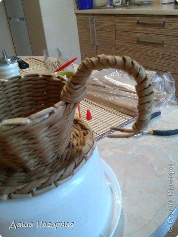 Мастер-класс Поделка изделие Плетение МК чашки Бумага газетная Трубочки бумажные фото 28