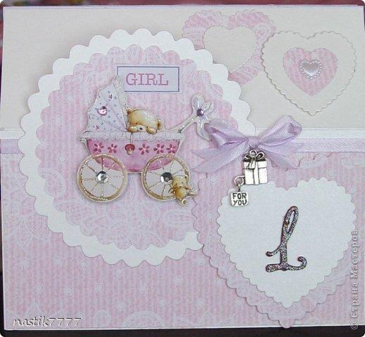 Скрапбукинг открытка на 1 годик девочке