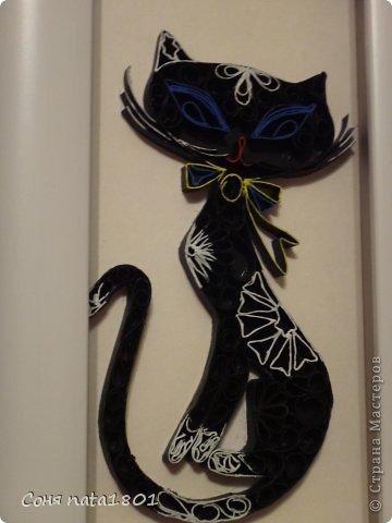 Квиллинг Черная кошка