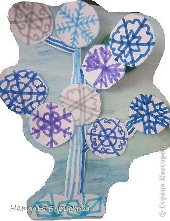 Зимний сказочный лес из снежинок фото 6