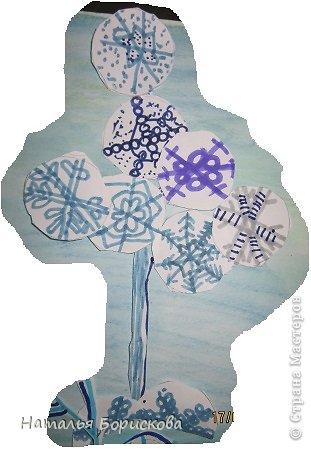 Зимний сказочный лес из снежинок фото 8