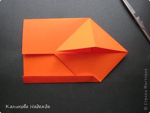 Мастер-класс Открытка Валентинов день Оригами Письмецо в конверте погоди не рви Бумага фото 10