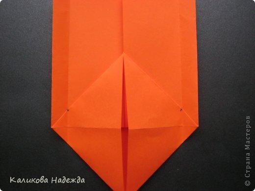 Мастер-класс Открытка Валентинов день Оригами Письмецо в конверте погоди не рви Бумага фото 12