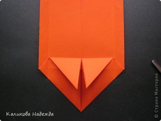 Мастер-класс Открытка Валентинов день Оригами Письмецо в конверте погоди не рви Бумага фото 14