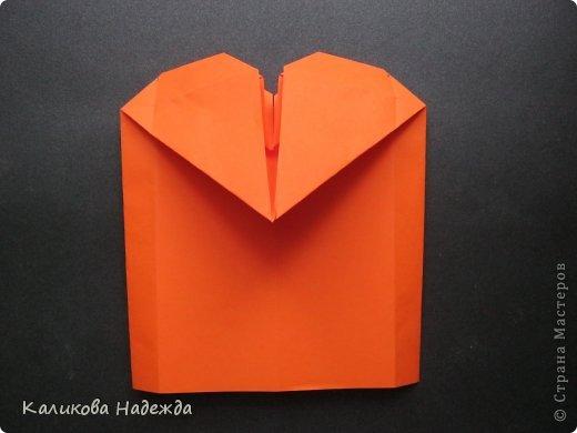 Мастер-класс Открытка Валентинов день Оригами Письмецо в конверте погоди не рви Бумага фото 20