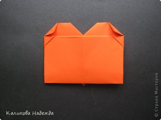 Мастер-класс Открытка Валентинов день Оригами Письмецо в конверте погоди не рви Бумага фото 23