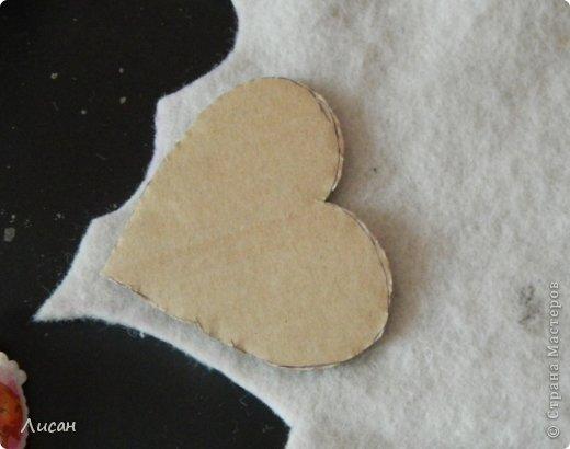 Мастер-класс Поделка изделие Валентинов день Шитьё Валентинка магнит Тесьма шнур Ткань фото 4