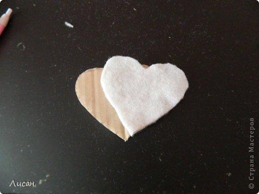 Мастер-класс Поделка изделие Валентинов день Шитьё Валентинка магнит Тесьма шнур Ткань фото 5