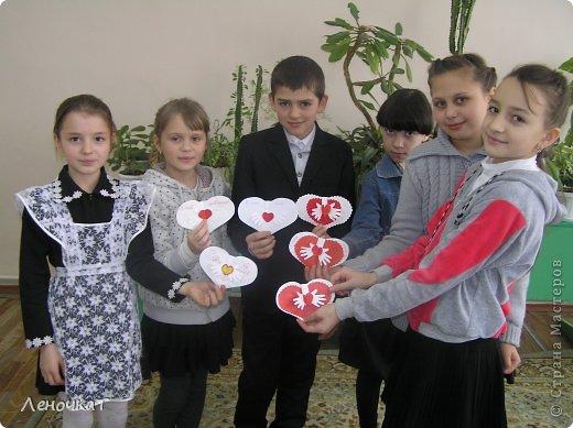 Мастер-класс Поделка изделие Аппликация Валентинка Бумага фото 25
