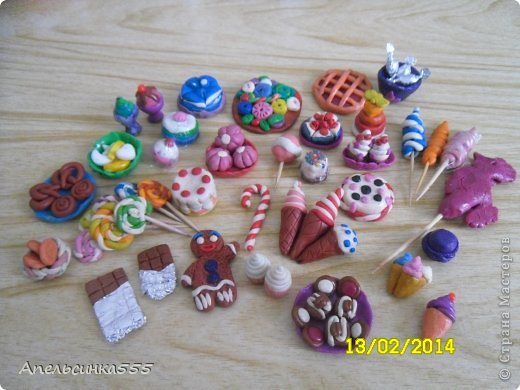 Как сделать из пластилина для кукол еду видео
