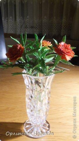 Добрый день любимая Страна! Сегодня я к Вам с повторюшками цветочков. Цветы увидела у замечательной мастерицы Татьяны ( Сапфир )  https://stranamasterov.ru/node/452732, очень понравились, попробовала тоже сделать, но у меня нет кристальной бумаги, поэтому я сделала из простой гофрированной. Татьяна, огромное Вам спасибо за Ваше творчество.  Уезжала надолго в гости к внукам, а когда вернулась, всё никак не могла настроится на творческую волну и решила пока попробовать свои силы вот в таких маленьких пробных цветочках.   Цветы нам дарят настроенье, И пробуждают вдохновенье, Как символ чистой красоты, Ведь очень трудно без мечты!  И остаётся прочно с нами, Всё то, что связано с цветами, В них растворились краски звёзд, И мир любви без мук и слёз!   Стихи Марка Львовского фото 11