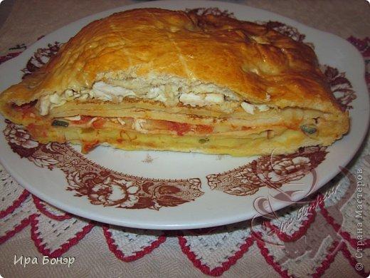 Кулебяка диетическая с курицей и овощами