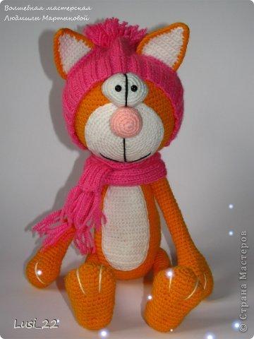 Парочка котиков, связанных по описанию Елены Гюнгер (рождественский кот). фото 6
