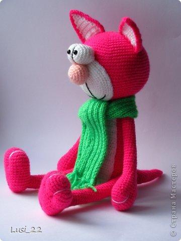 Парочка котиков, связанных по описанию Елены Гюнгер (рождественский кот). фото 3