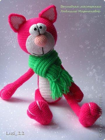 Парочка котиков, связанных по описанию Елены Гюнгер (рождественский кот). фото 1