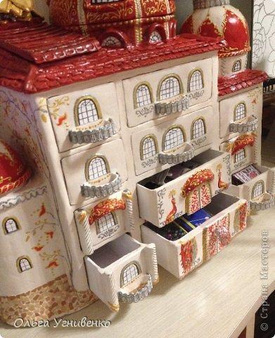Мастер-класс Папье-маше Дворец для рукоделия Бумага Бумага газетная Коробки Пластика фото 36
