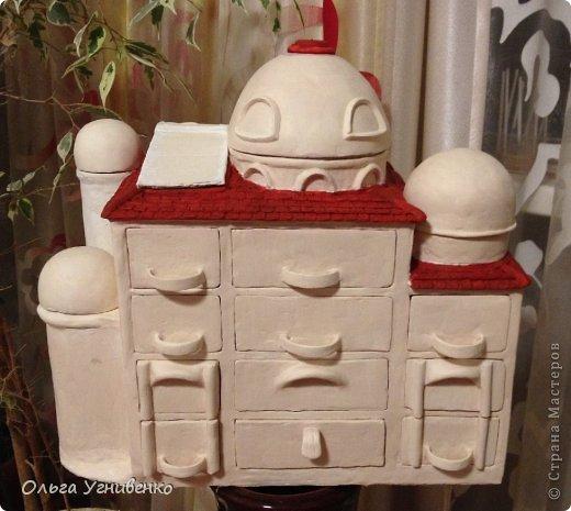 Мастер-класс Папье-маше Дворец для рукоделия Бумага Бумага газетная Коробки Пластика фото 22