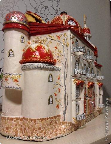 Мастер-класс Папье-маше Дворец для рукоделия Бумага Бумага газетная Коробки Пластика фото 25