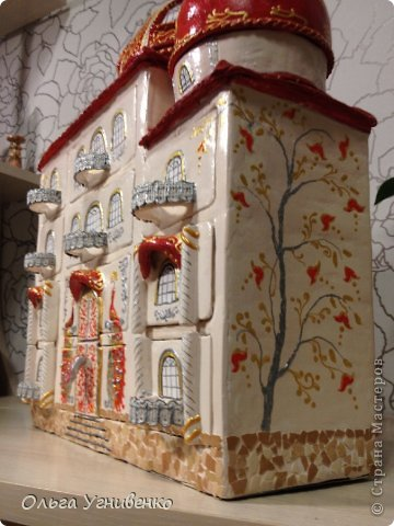 Мастер-класс Папье-маше Дворец для рукоделия Бумага Бумага газетная Коробки Пластика фото 27