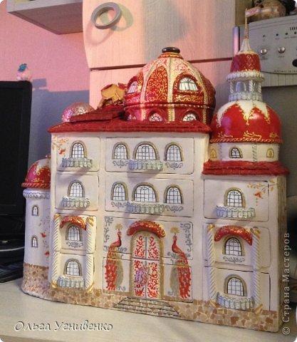 Мастер-класс Папье-маше Дворец для рукоделия Бумага Бумага газетная Коробки Пластика фото 37