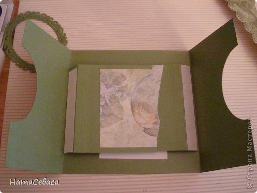 Мастер-класс Открытка День рождения Аппликация Открытка с подвижным элементом Бумага фото 4