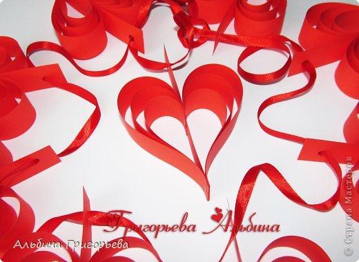 Мои подделки к дню Влюблённых! Гирлянда из сердец. Длинна 130 см. 9 сердец.