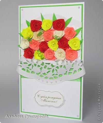 """Открытки с розами """"От всего сердца"""", """" с днём рождения Мамочке!"""", """"С праздником!"""" Яркие насыщенные розы. Решила сделать такие разноцветные букетики! Я эти розочки уже полюбила! фото 5"""