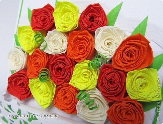 """Открытки с розами """"От всего сердца"""", """" с днём рождения Мамочке!"""", """"С праздником!"""" Яркие насыщенные розы. Решила сделать такие разноцветные букетики! Я эти розочки уже полюбила! фото 6"""