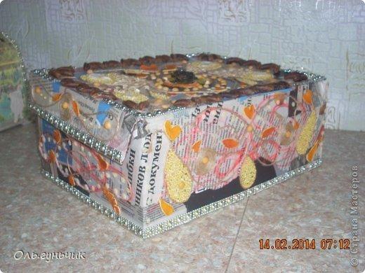 Приветствую всех кто заглянул ко мне в гости!!!! Хочу показать вам мои очередные шкатулки и сундучки... фото 17
