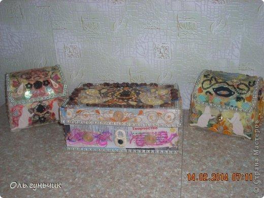 Приветствую всех кто заглянул ко мне в гости!!!! Хочу показать вам мои очередные шкатулки и сундучки... фото 18