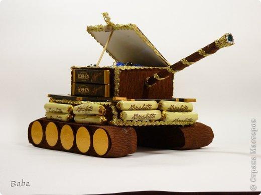 Добрый день, жители Страны Мастеров! Спасибо большое  Mari shka за вдохновение и мастер класс https://stranamasterov.ru/node/653125! Получился вот такой танк...