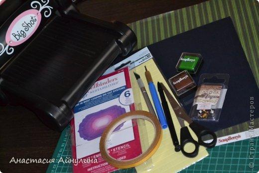 Мастер-класс Скрапбукинг 23 февраля День рождения Аппликация Мужской чемоданчик МК фото 2