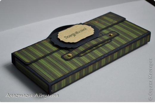 Мастер-класс Скрапбукинг 23 февраля День рождения Аппликация Мужской чемоданчик МК фото 24