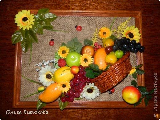 Панно с фруктами своими руками