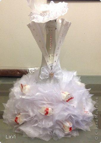 Свит-дизайн 8 марта День рождения Свадьба Моделирование конструирование ASTI в белом Бумага гофрированная фото 1