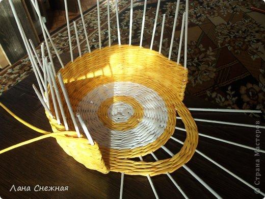 Мастер-класс Поделка изделие Плетение Сумочка для девчушки Бумага газетная Трубочки бумажные фото 3