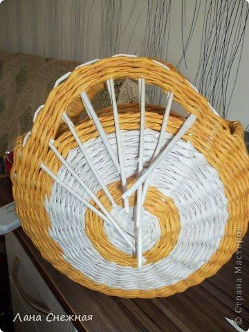 Мастер-класс Поделка изделие Плетение Сумочка для девчушки Бумага газетная Трубочки бумажные фото 6