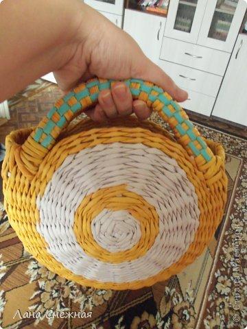 Мастер-класс Поделка изделие Плетение Сумочка для девчушки Бумага газетная Трубочки бумажные фото 12
