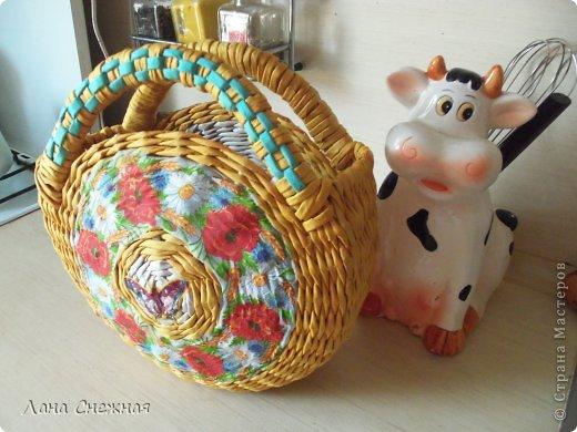 Мастер-класс Поделка изделие Плетение Сумочка для девчушки Бумага газетная Трубочки бумажные фото 15